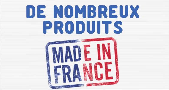 De nombreux produits Made in France